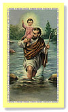St Christopher  Prayer Card