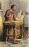 St Joseph Worker Prayer Card , 100 pack