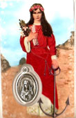 St Philomena Novena Laminated Card