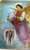 St Gabriel Prayer Card Laminated Prayer Card with Medal