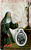 St Rita Laminated Prayer Card with Medal