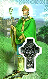 St Patrick Laminated Prayer Card  with Medal