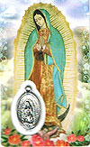 Guadalupe Laminated Prayer Card with Medal