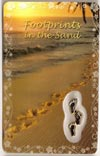 Footprints in the Sand Laminated Prayer Card