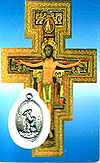 San Damino Laminated Prayer Card with Medal