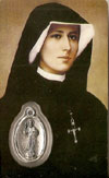 St Maria Faustina Laminated Prayer Card