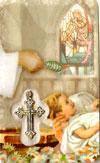 Baptism Laminated Prayer Card with Medal