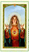 Novena Prayer to the Immaculate Heart Laminated Card