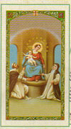 Holy Rosary Mysteries Laminated Prayer Card