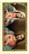 Consecration to Mary & Jesus Laminated Prayer Card