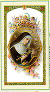 Saint Rita Laminated Prayer Card