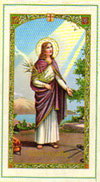 Saint Agatha Laminated Prayer Card