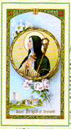 Saint Brigid Laminated Prayer Card