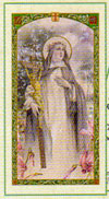 Saint Catherine Sienna Laminated Prayer Card