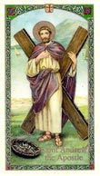 Saint Andrew the Apostle Laminated Prayer Card