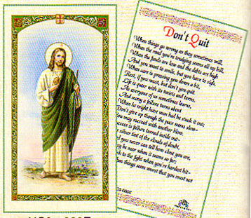 9305e86fe5b Saint Jude Laminated Prayer Card