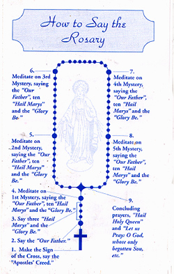 photograph regarding How to Pray the Rosary Printable called How in direction of Pray the Rosary, 100 pack