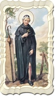 St Peregrine Linen Prayer Card