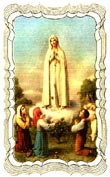 Our Lady of Fatima Linen Prayer Card