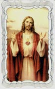 Sacred Heart Bedtime Prayer Card