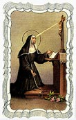 St. Rita Linen Prayer Card
