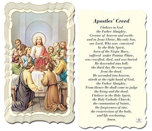 Apostle creed catholic the Prayers of