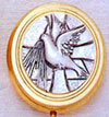 Brass Dove Pyx Holds 4-6 Hosts