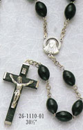 Family Wood Rosary - Black