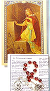 St Philomena Chaplet with Prayer Card