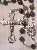 India Agate Bead Rosary