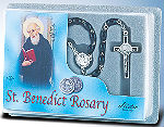 St Benedict Black Wood Rosary
