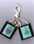 St. Michael Thick Cord Scapular - Brown cord