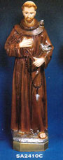 St Francis Vinyl Statue - 24 inches tall