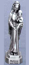 Madonna and Child Pewter Statue