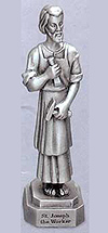 St Joseph the Worker Pewter Statue