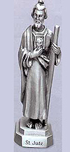 St Jude Pewter Statue