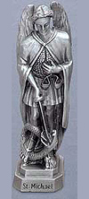 St Michael Pewter Statue