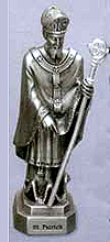 St Patrick Pewter Statue
