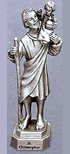 St Christopher Pewter Statue