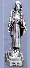 Our Lady of Grace Pewter Statue