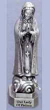 Our Lady of Fatima Pewter Statue