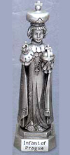 Infant of Prague Pewter Statue - 3 1/2 inch