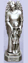 Guardian Angel - Girl Pewter Statue