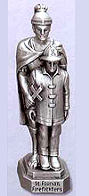 St Florian (Firefighters) Pewter Statue