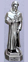 St Peregrine Pewter Statue