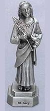 St Lucy Pewter Statue