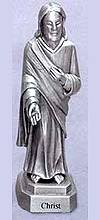 Christ Pewter Statue