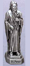 St Peter Pewter Statue