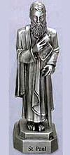 St Paul Pewter Statue