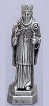 St Kevin Pewter Statue